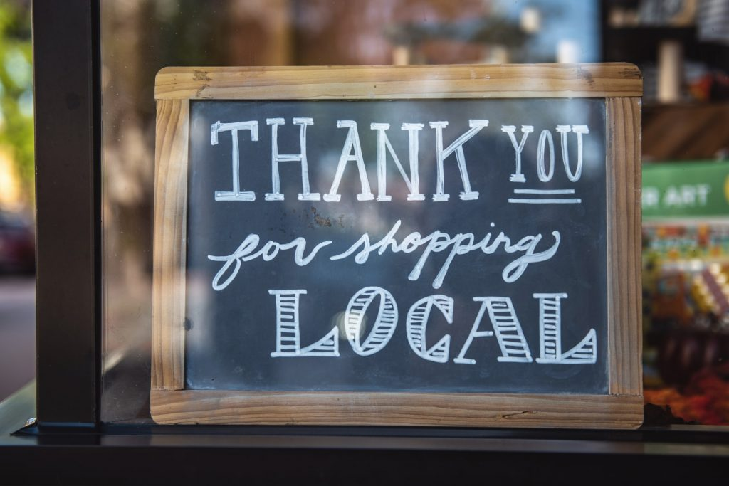 why digital marketing is important for small business blog (thank you for shopping local sign)